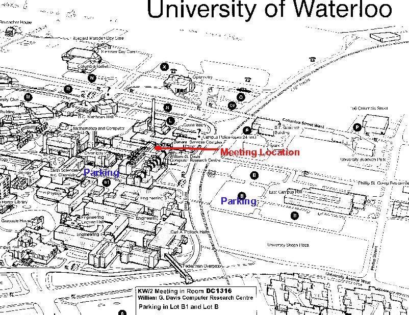 U Waterloo Campus Map.Kw 2 Meeting Directions