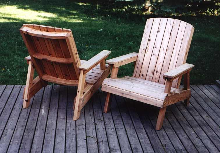 some extremely solid cedar deck chairs these deck chairs are the the ...