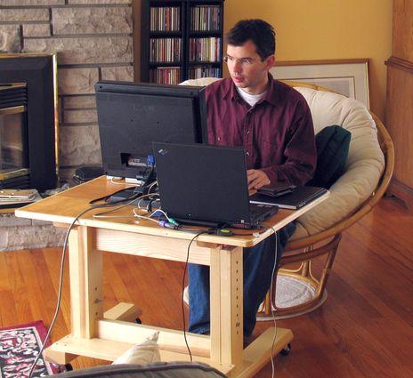 adjustable computer desk plans